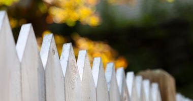 A fence between two homes.