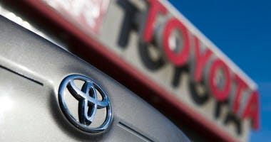 A Toyota vehicle is seen in a dealership lot in the Bay Ridge neighborhood of the Brooklyn borough of New York City.