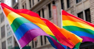 Flags at New York City Pride Parade.