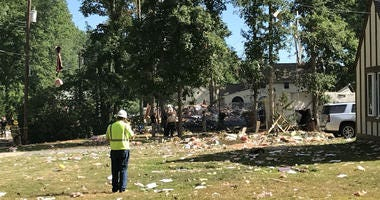 The devastation on Oakwood Drive in Newfield, Gloucester County.