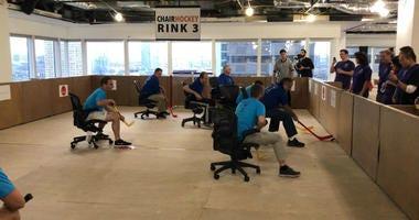 Chair Hockey Floor-nament
