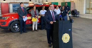 Pa. Deputy Health Secretary Ray Barishansky and members of the Alternative Response Unit discuss the state's push to boost opioid treatment efforts.