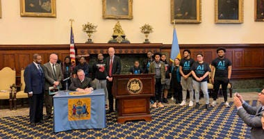 Mayor Jim Kenney signs 2 bills designed to protect teenagers from the lure of nicotine.