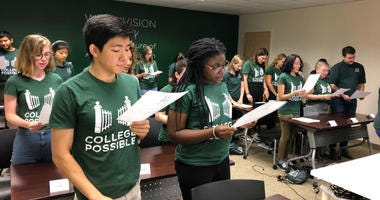Colleges grads are sworn in to their roles with College Possible.