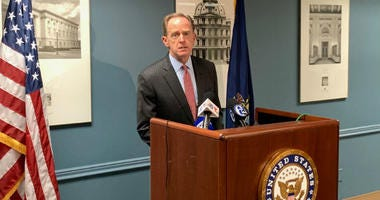 Pennsylvania U.S. Sen. Pat Toomey at a meeting with reporters.