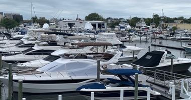 Boats docked at Harbour Cove Marina in Somers Point