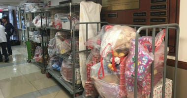 Some of the thousand donated toys.