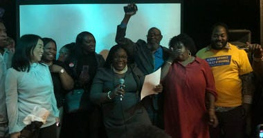 Kendra Brooks at her election watch party.
