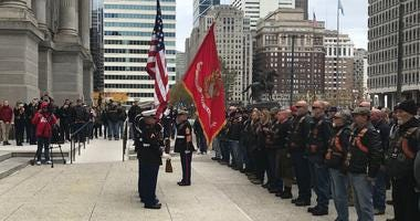Marine Week began with the Corps flag being raised at City Hall, to celebrate the U.S. Marine Corps' 244th birthday.