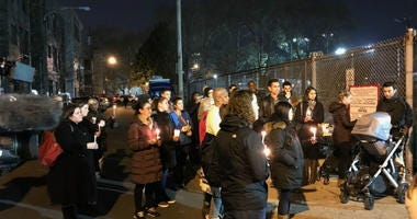 A vigil in Fairmount held to remember 4-year-old Zya Singleton.