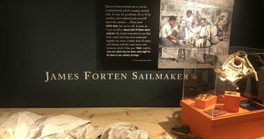 To commemorate Freedom Day, as it is also known, the Seaport Museum brought in speakers, drummers and historians to tell the stories of enslaved and freed African-Americans.