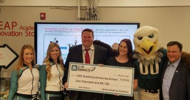 Christopher McCrum was one of 10 awarded for his hard work by the Philadelphia Eagles and Axalta Coating Systems as an All-Pro Teacher.
