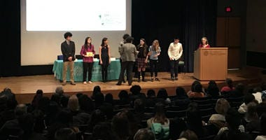 Hundreds of Philadelphia school students were recognized for their efforts in science at the 40th annual Carver Science Fair awards ceremony at the Museum of Natural History.