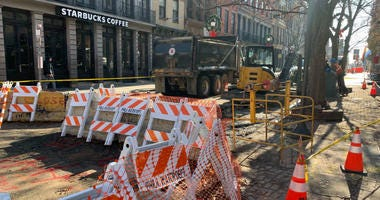 Officials say the break in the eight inch water main in Old City caused damage to other underground electric and telephone lines near it.