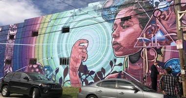 """""""Dreams, Diaspora and Destiny"""" mural"""