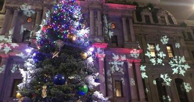 Christmas tree at Philadelphia City Hall.
