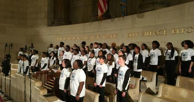 To cap off the largest MLK Day of Service event in the country, the Philadelphia Orchestra and a high school choir performed in the intimate chapel at Girard College.