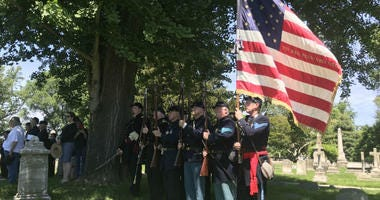 A special service was held Sunday honoring some of the region's Civil War veterans at Laurel Hill Cemetery.