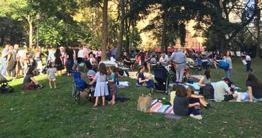 About 100 people gathered in Rittenhouse Square for a Rosh Hashanah celebration on Sunday.