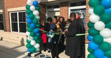 The ribbon was cut to Blumberg 83, a factory-built, $35 million project that provides 83 affordable rental units in Sharswood.