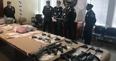 Federal, state and city authorities were able to pull about 18 guns and more than $600,000 worth of drugs off the streets of Kensington.