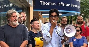 Nurses union protest