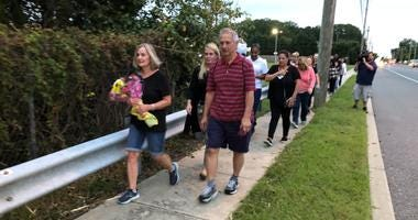 Tears were rolling down cheeks as Anne Chiefari saw the surprise on her final one-mile walk from home to Jefferson Health in Washington Township.