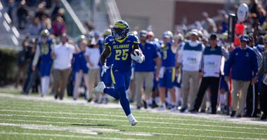 Delaware redshirt freshman running back Will Knight