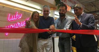 Reading Terminal held a ribbon-cutting ceremony Thursday for its new vendor, Luhv Vegan Deli.