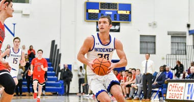 Widener junior guard Jared Peters.