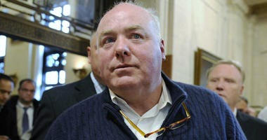 In this Feb. 24, 2016, file photo, Michael Skakel leaves the state Supreme Court after his hearing in Hartford, Conn.