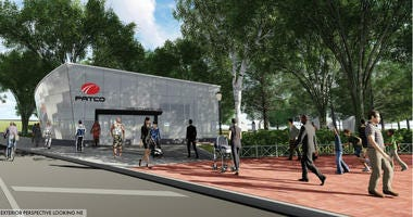 Artist rendering of a Franklin Square PATCO station in Center City.