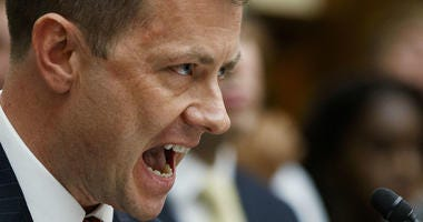 """FBI Deputy Assistant Director Peter Strzok testifies before the House Committees on the Judiciary and Oversight and Government Reform during a hearing on """"Oversight of FBI and DOJ Actions Surrounding the 2016 Election,"""" on Capitol Hill, Thursday, July 12."""