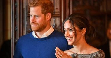 Britain's Prince Harry and Meghan Markle