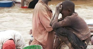 Children were found working alongside adults at cobalt operations in the Democratic Republic of Congo.