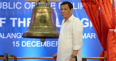 """Philippines President Rodrigo Duterte has claimed he molested a maid while in high school -- comments his spokesman later said were """"made up."""""""