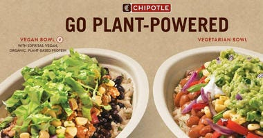 The fast casual chain on Monday expanded its new line of diet-based bowls to include vegan and vegetarian options.