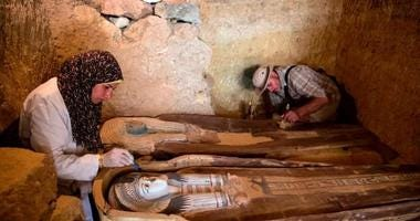 Archaeologists working near the pyramids of Giza have discovered an ancient Egyptian burial ground dating back to around 2500 BCE and hosting the tombs of high-ranking officials.