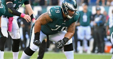 Philadelphia Eagles offensive guard Brandon Brooks (79).