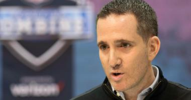 Philadelphia Eagles general manager Howie Roseman speaks to media during the 2019 NFL Combine at Indianapolis Convention Center.