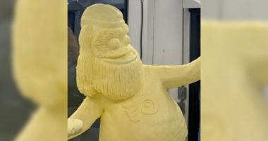 Butter sculpture of Gritty