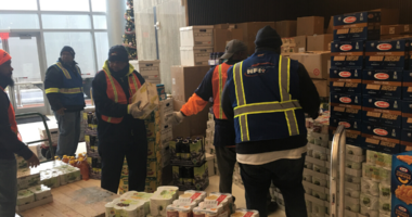 Food drive in Camden