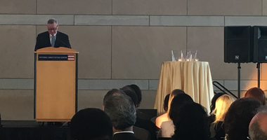 Mayor Jim Kenney was in attendance to communicate the importance of the Juvenile Law Center's Leadership Prize.