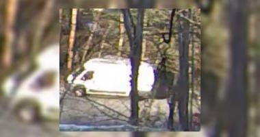 White van that Caln Township police are looking for.