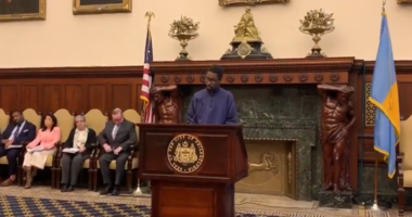 Tyrone Jones at Philadelphia City Hall, residential placement for youth.