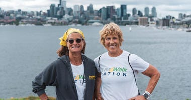 EverWalk founders Diana Nyad (right) and Bonnie Stoll