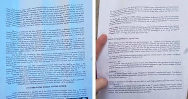 People in a couple of South Philadelphia neighborhoods found anti-Semetic and racist flyers on cars, sidewalks and porches over the weekend.