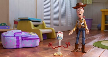 """This undated image provided by Disney/Pixar shows a scene from the movie """"Toy Story 4."""""""