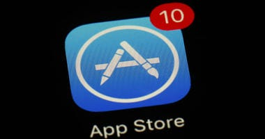 This March 19, 2018, file photo shows Apple's App Store app in Baltimore. As its iPhone sales slip, Apple has been touting its growing digital-services business as the engine that will keep profits up.