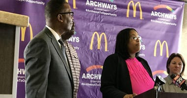 Danielle Dawkins Austin is the co-owner of two McDonald's restaurants in North Philadelphia.